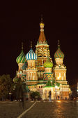 Intercession Cathedral in night. Moscow — Стоковое фото
