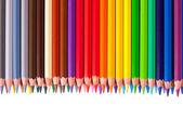 Gränsa från pennor med copyspase — Stockfoto