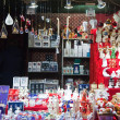 Kiosk with Christmas toys and gifts — Stock Photo