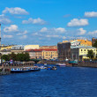 View of St. Petersburg.  Fontanka River in sunny day - Stock Photo