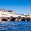 View of St. Petersburg. Prachechny Bridge - Stock Photo