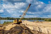 Poço de areia em dia de sol — Foto Stock