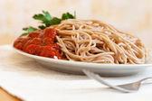 トマトソースのスパゲティ パスタ — ストック写真
