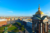 Top view of city from Saint Isaac's Cathedral — Foto Stock
