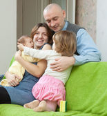 Ouple together with two children — Stock Photo