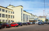 Architecture of the USSR period - Railway station — Stock Photo