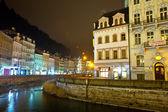 Night view of Carlsbad. Czech Republic — Stock Photo