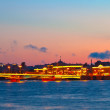 View of St. Petersburg  in sunset — Stock Photo