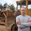 Portrait of tractor operator   — Stock Photo