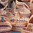 Stock Photo: Wicker baskets for sale