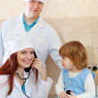 Doctors examining the baby — Stock Photo