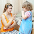 Mother berates her child — Stock Photo #18201481