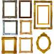 Set of  gold picture frame  — Foto de Stock
