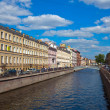 View of St. Petersburg. Griboyedov Canal in sunny day - Stock Photo