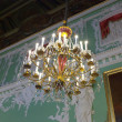 Chandelier in interior of Stroganov Palace — Stock Photo #18202321