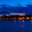 View of St. Petersburg in night - Stockfoto