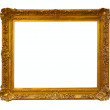 Stock Photo: Gold picture frame