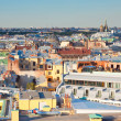 Top view of St. Petersburg Russia — Stock Photo
