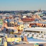widok z góry z st. petersburg, Rosja — Zdjęcie stockowe