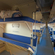Стоковое фото: Interior of sleeper train
