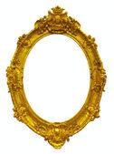 Marco oval oro — Foto de Stock