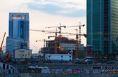 Construction of Moscow International Business Center — Stock Photo