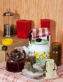 家庭の台所でハーブ — ストック写真