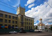 View of Ivanovo. Trinity temple and Post Office — Stock Photo