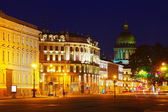 View of St. Petersburg in night — Stock Photo