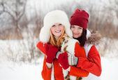 Kız oyunları winter park — Stok fotoğraf