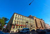 Sredny prospekt at St. Petersburg, Russia — Stock Photo