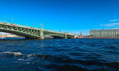 View of St. Petersburg. Trinity Bridge — Stock Photo