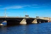 View of St. Petersburg. Blagoveshchensky Bridge — Stock Photo