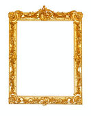 Gold picture frame on white background — Stockfoto