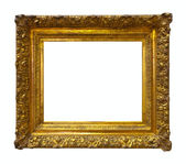 Gold picture frame. Isolated over white — Stock Photo