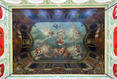 Frescoed ceiling in interior of Stroganov Palace — Stock Photo