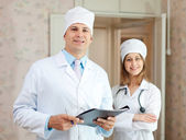 Doctor and nurse in clinic — Stock Photo