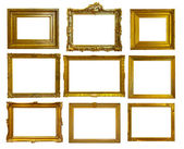 Set of gold picture frames. — Stockfoto