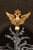 Golden two-headed eagle — Stock Photo
