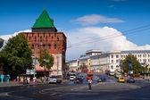 Kremlin street at Nizhny Novgorod — Stock Photo