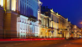 View of St. Petersbur in night — Stock Photo