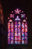 Vetrata nella cattedrale di san vito — Foto Stock