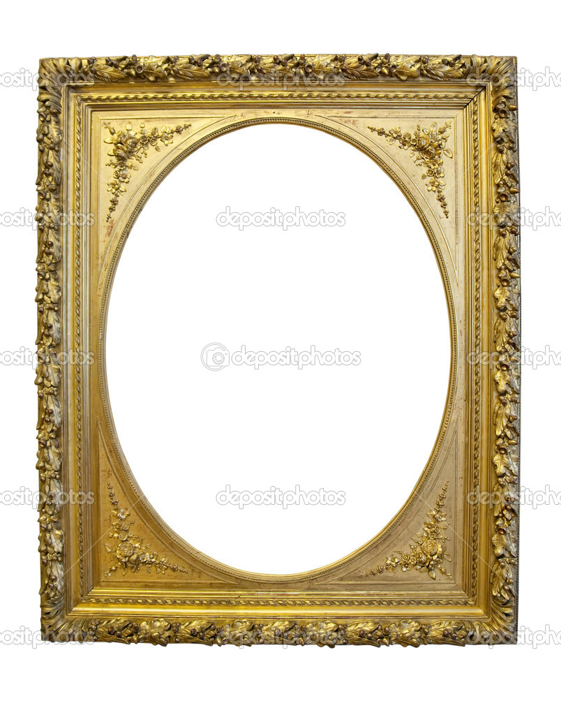 Antique Oval Picture Frames Gold antique oval frame