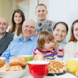 Happy  family or group of friends over tea  — Stock Photo