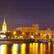 View of Moscow in summer night — Stockfoto