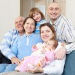 happy three generations family   — Stock Photo