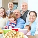 Large joyful three generations family — Stock Photo #23477927