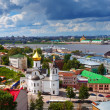 Historic district of Nizhny Novgorod in summer — Photo