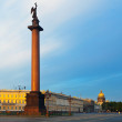 View of St. Petersburg. The Alexander Column - Stock Photo