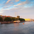 Panoramic view of Neva river - Stock Photo